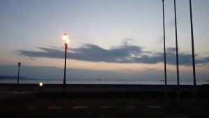 合宿の夕日
